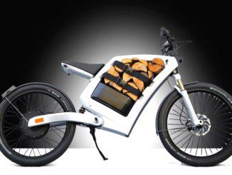Mit dem E-Bike vonFeedz kann man auch ungewöhnliche Dinge transportieren. Foto: Feedz
