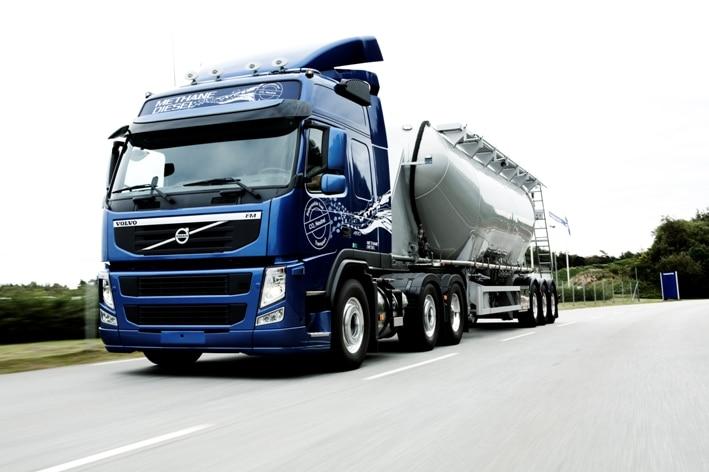 Volvo FM mit Methan-Diesel-Motor. Foto: Auto-Medienportal.Net/Volvo