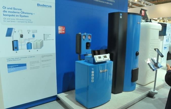 Noch längst kein Standard in deutschen Heizungskellern: Moderne Hybridheizung, wie hier von Heat-Sponsor Buderus. Foto: Urbansky