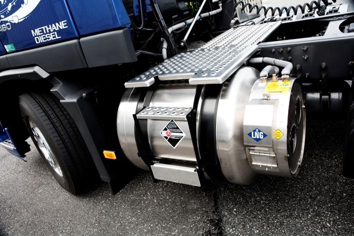 Flüssig-Erdgas-Tank am Volvo FM. Foto: Auto-Medienportal.Net/Volvo