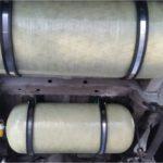 Unterflur verbaute Kunststofftanks können 25 kg CNG aufnehmen.
