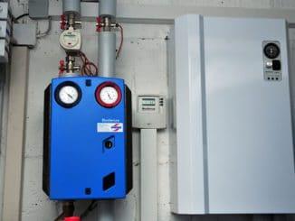 Der Power-to-Heat-Elektroheizer liefert Wärme an den Speicher. Foto: IWO