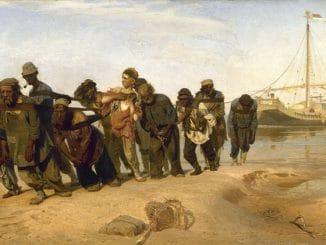 "Vorschaubild: ""Treidler an der Wolga"" (Бурлаки на Волге), Ilja Repin, 1870–1873"