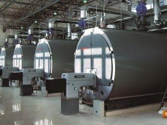 Prozesswärmekessel einer Fernwärmeanlage. Foto: BDH