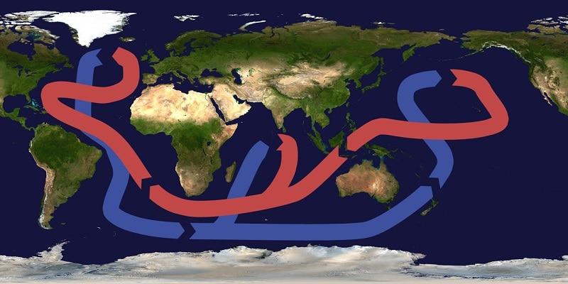Vorschaubild: Globales Förderband der Meeresströmungen. Grafik: Brisbane / Wikimedia / unter Lizenz CC BY-SA 3.0