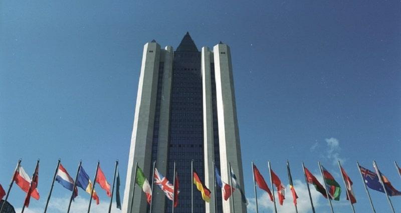 Hauptsitz von Gazprom in Moskau. Die Zerschlagung des Konzerns könnte auch für günstigere Gaspreise hierzulande sorgen. Foto: Gazprom