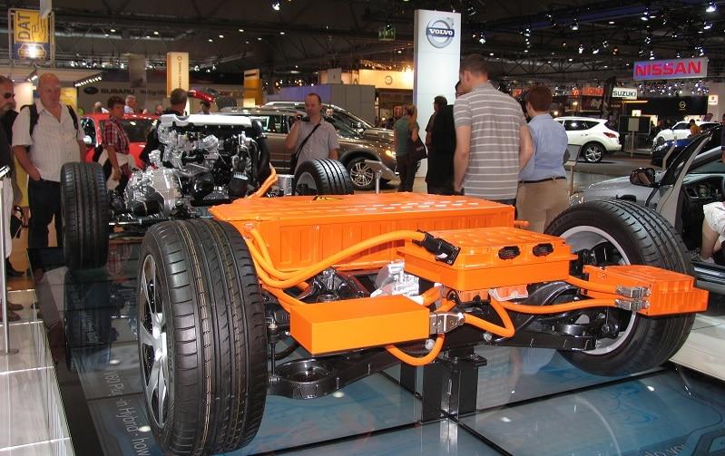 E-Batterie bei einem Volvo Hybrid. Foto: Urbansky
