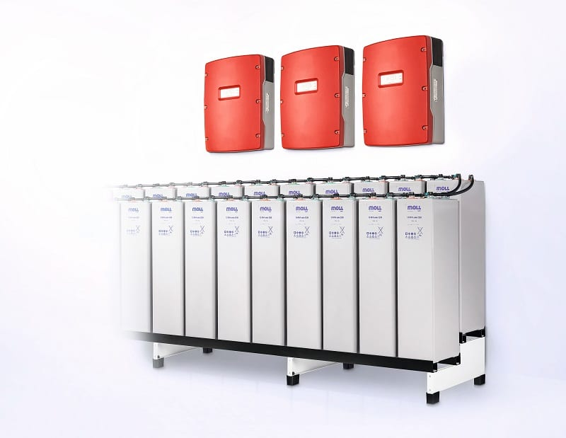 Bleibatterieblock von IBC Solar. Foto: IBC Solar