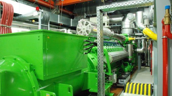 Blockheizkraftwerk für ein Wärmenetz. Foto: E.ON