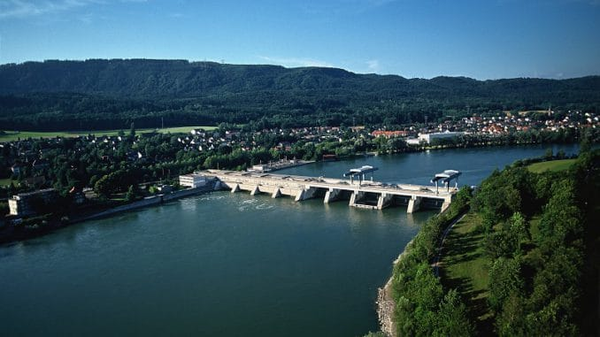 Wasserkraftwerk Säckingen. Foto: NaturEnergie