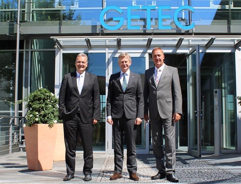 Das Getec-Führungstrio Michael Lowak, Karl Gerhold und Andreas Schulz (v.l.n.r.) . Foto: Urbansky