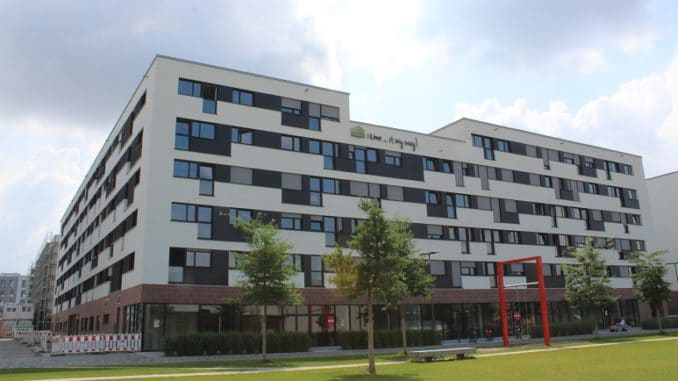 Komplett im Passivhausstandard errichtet: Haus in der Bahnstadt Heidelberg. Foto: Urbansky