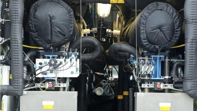 PtG-Anlage des Stadtwerkeverbundes Thüga. Foto: Mainova / Joachim Storch Power to Gas, PtG, P2G, Shell, Wasserstoff