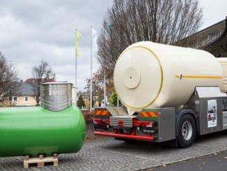 Größer muss ein Flüssiggas-Tank nicht sein. Er lässt sich ober- und unterirdisch installieren. Foto: DVFG/Uwe Frauendorf Flüssiggas, LPG, Tank, Sicherheit, Heizung