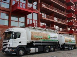 Pelletlieferung Am Lokdepot 6 in Berlin-Schöneberg. Foto: Urbansky Pellets, Holz, Brennholz, Festbrennstoff, EnEV, KfW, EEWärmeG