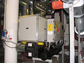 Kompressionskältemaschine einer KWKK-Lösung. Foto: Urbansky KWKK, Kälte, Kühlung, KWK, Absorption