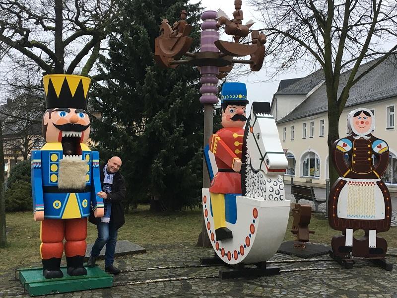EnWiPo, Weihnachten Olbernhauer Reiterlein, Nussknacker und Pfefferkuchenfrau