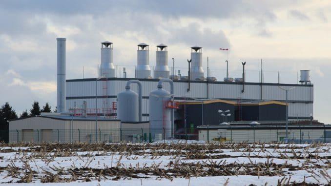 Verdichter - hier von der Ontras in Sayda brauchen gut 7 % des deutschen Erdgasbedarfes, um eben jenes Gas durch die Leitungen zu drücken. Foto: Urbansky