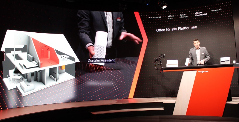 Viessmann reüssierte auf der ISH2017 mit einer virtuellen Show, die auf die Chancen der Digitalisierung für die SHK-Branche verwies. Foto: Urbansky