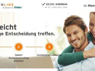 Corpus Delicti: Die Online-Plattform heizungonline von Vaillant weist Endkunden in drei Schritten den Weg zur neuen Heizung. Quelle: Vaillant