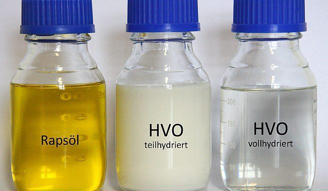 Hydriertes Pflanzenöl (HVO) hat ähnliche Eigenschaften wie Heizöl. Foto: IEC Freiberg