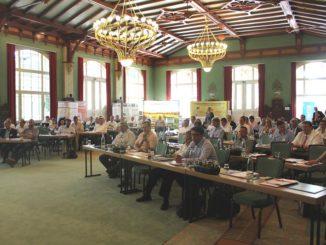 Im historischen Ambiente des Parkhotels Herrenkrug befassten sich Deutschlands Contractoren mit sehr zukünftigen Themen. Foto: Urbansky