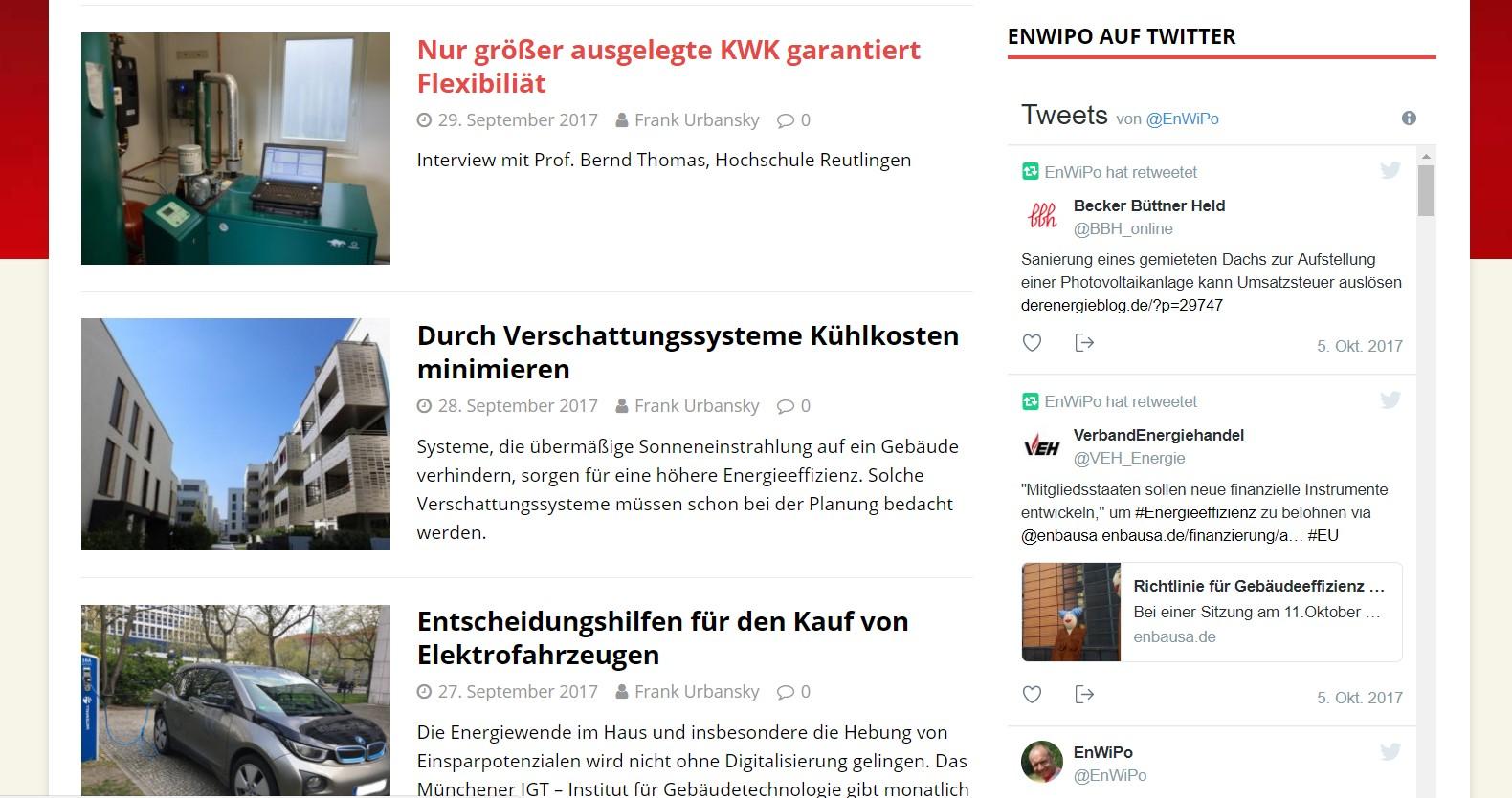 Ein Blog ist ein geeignetes und günstiges Medium, um auf ein Unternehmen aufmerksam zu machen. Screenshot: EnWiPo