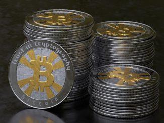 Könnten die Energiewirtschaft dezentralisieren: Bitcoins, hier in einer materialisierten und deswegen eigentlich unnötigen Variante. Foto: MasterTux / Pixabay