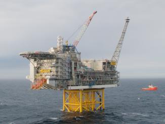 Ölförder-Plattform im Feld Ivar Aasen. Foto: VNG
