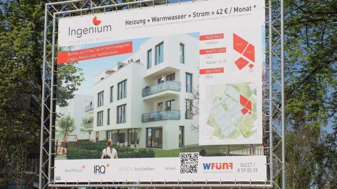 Quartiere mit effizienter Energieversorgung ermöglichen unschlagbar günstige Nebenkosten, wie hier ein Komplettpaket von 42 Euro monatlich im neuen Mannheimer Stadtteil Franklin. Foto: Urbansky