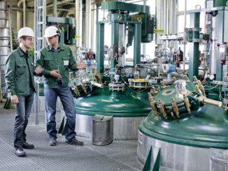 In Veresterungsreaktoren wie hier in Bitterfeld wird aus Rapsöl der Bioheizbestandteil FAME hergestellt. Foto: Verbio