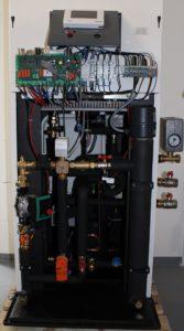 Wärmeübergabestation in den einzelnen Häusern.