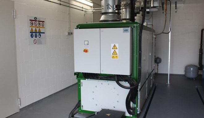 Eines der Blockheizkraftwerke, die in Haßfurt für energieeffizienten Grundlaststrom und günstige Tarife sorgen. Foto: Urbansky