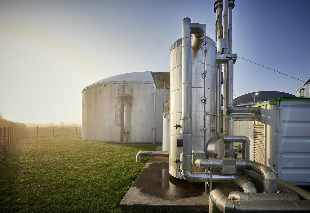 Bioerdgasanlage in Oschatz, die zu Teilen Biogas ins Gasnetz einspeist. Fotos: Juergen Jeibmann.