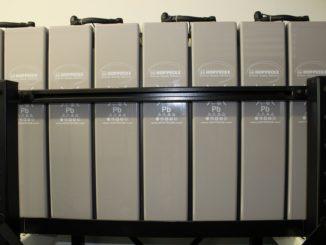 Modular aufgebauter Stromspeicher zur Versorgung eines ganzen Quartieres. Foto: Urbansky