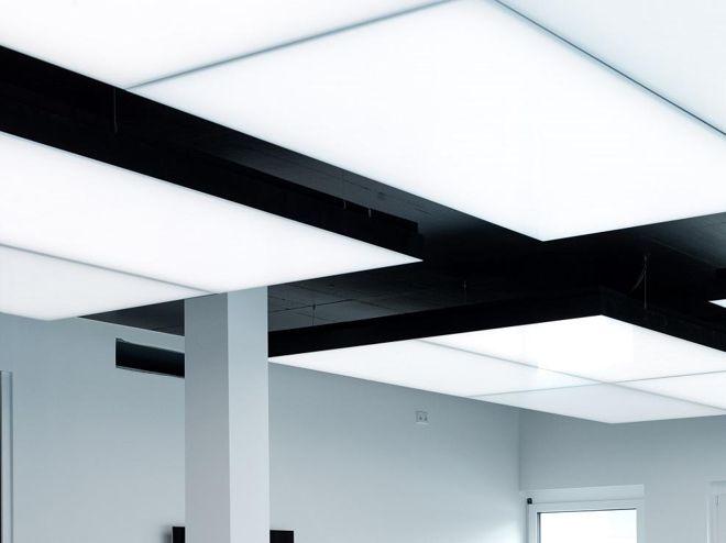 Heizen, Kühlen und Licht in einem Deckenbauelement vereint