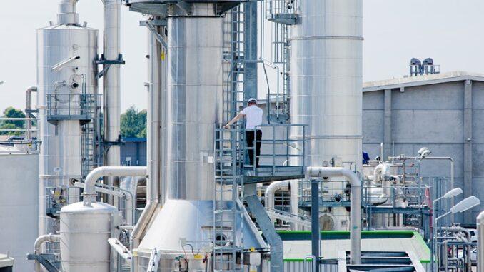 Biomethan wird aus Biogas in großen Anlagen aufbereitet und direkt ins Erdgasnetz eingespeist. Foto: Verbio