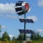 Kleinwindanlage nutzt Solarstrom für kontinuierliche Produktion