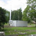 Mobile Heizzentrale für Sanierungen und Notfälle